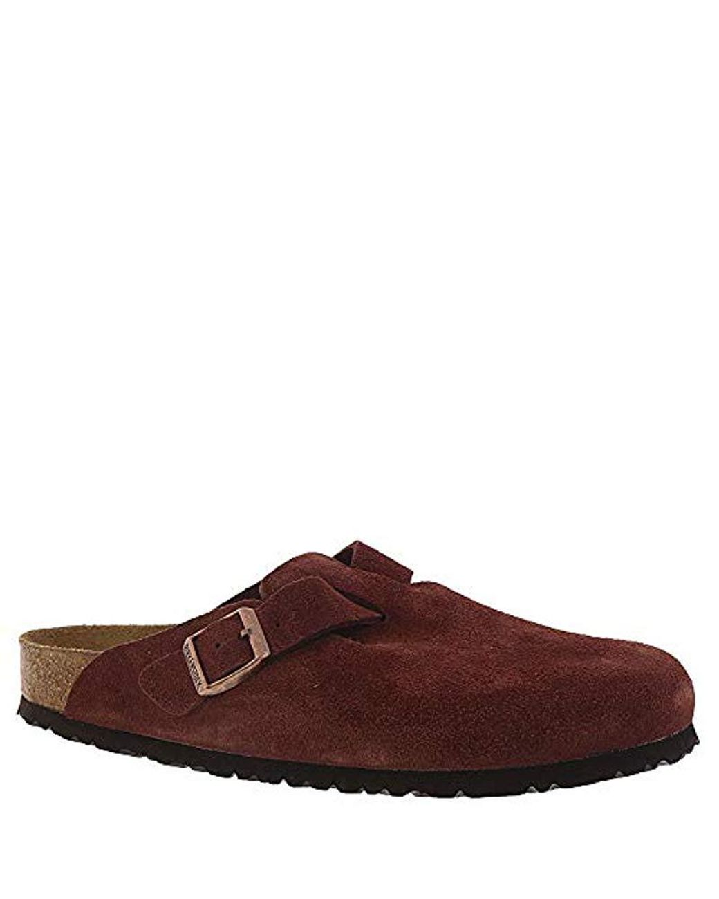 cheap for discount new collection timeless design Birkenstock Unisex Boston Soft Footbed Leather Clog in Brown ...