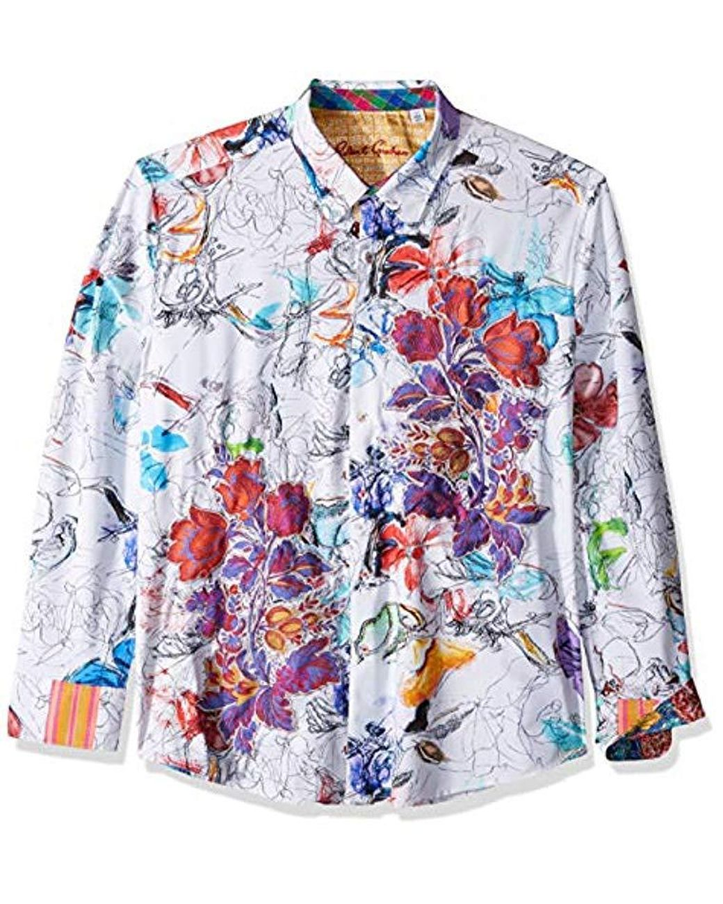 Robert Graham Mens Mayar Long Sleeve Classic Fit Shirt