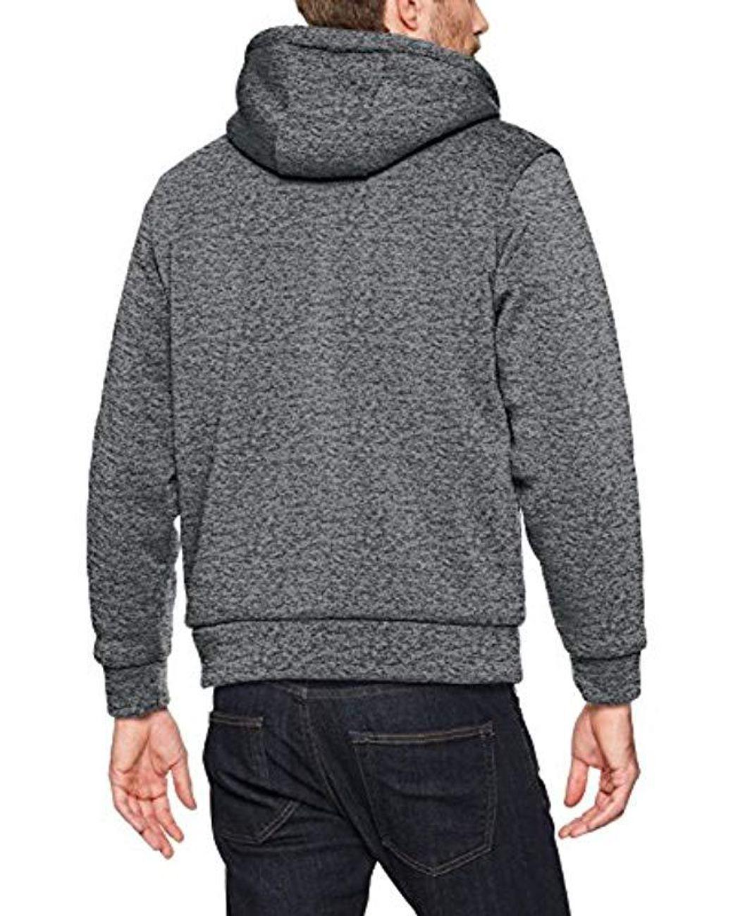 U S  POLO ASSN  Standard Sherpa Lined Fleece Hoodie in Gray