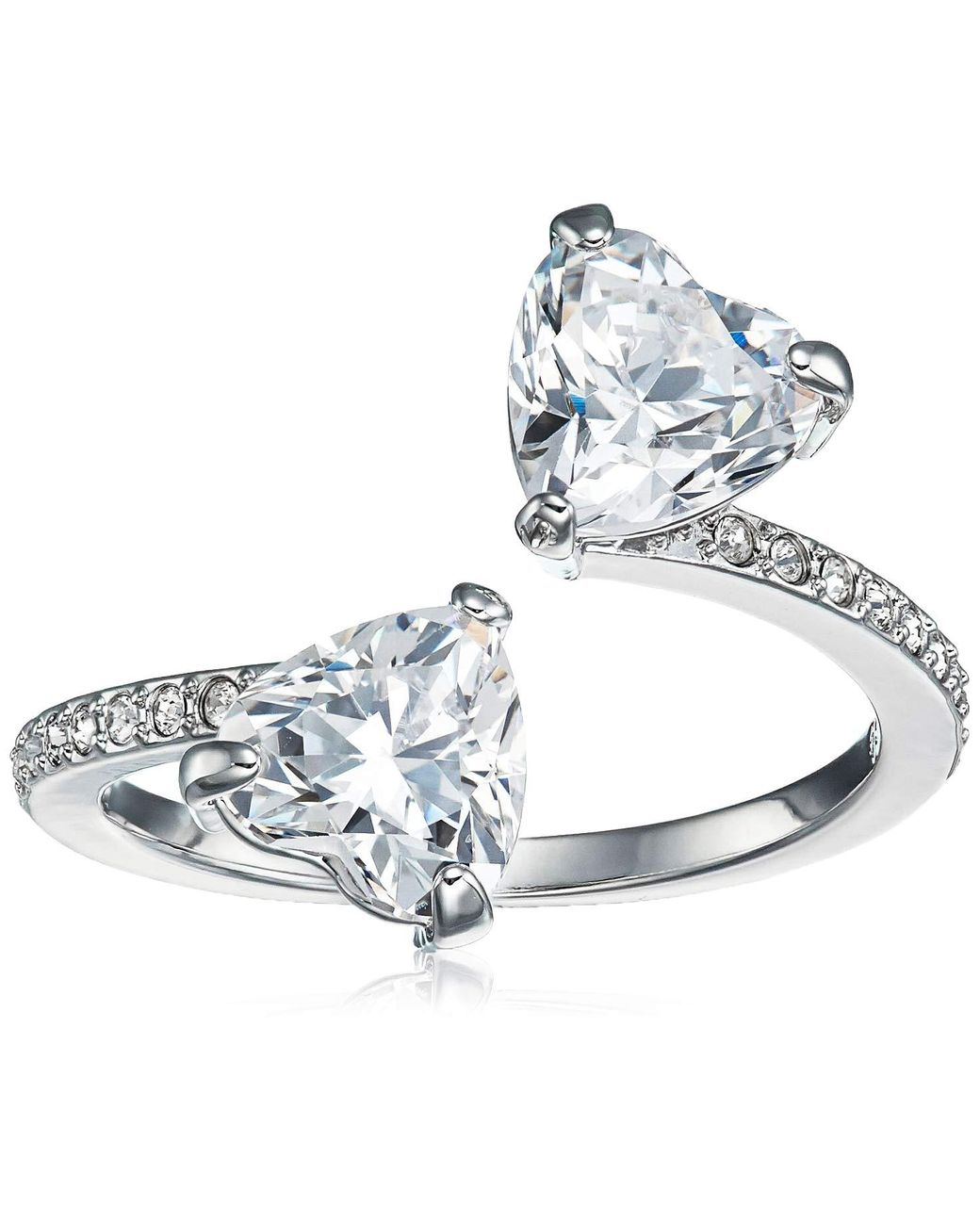 Swarovski Attract Soul Heart Ring In White Lyst