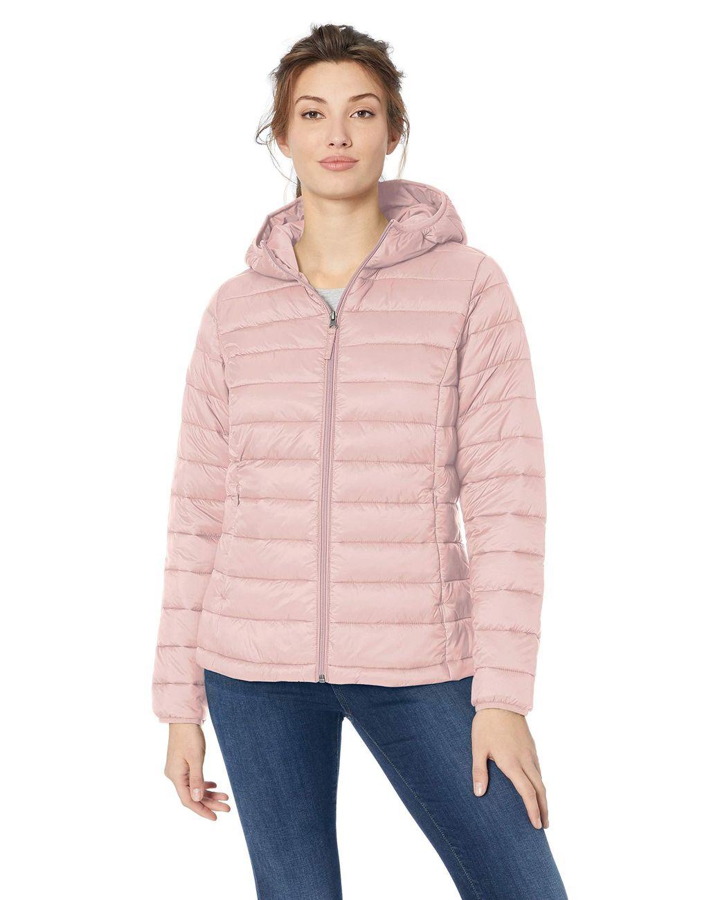 Essentials girls Water-Resistant Packable Hooded Puffer Jacket