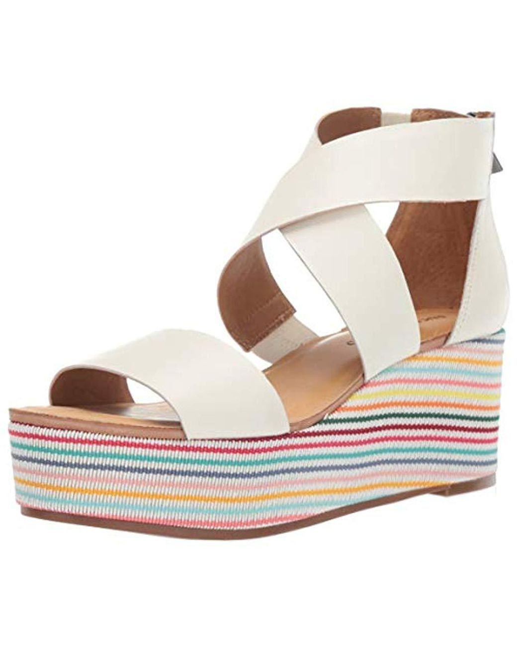 8532255be1f Lyst - Lucky Brand Lucky Gwindolin Espadrille Wedge Sandal Milk 5.5 M Us