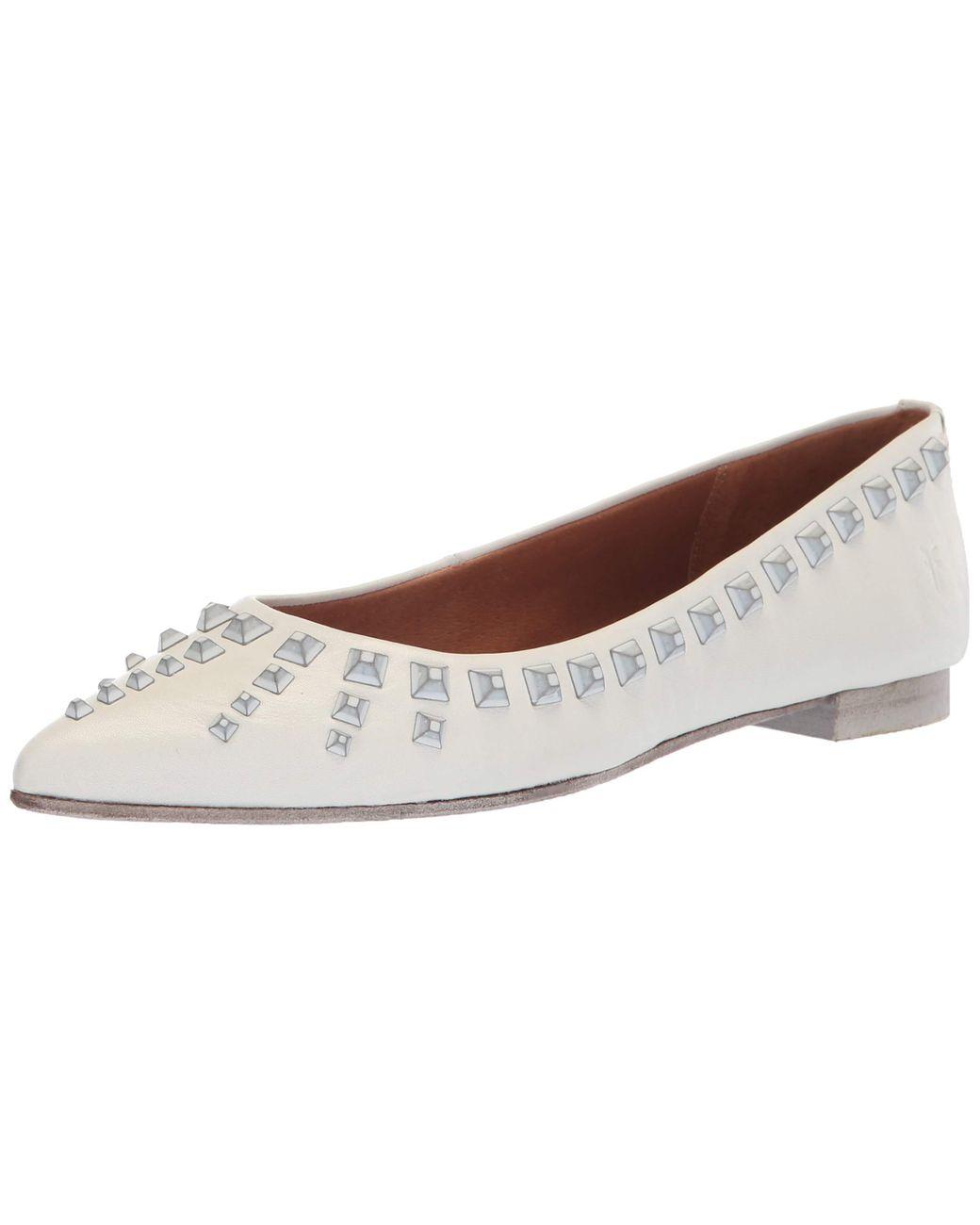 Frye Womens Sienna Deco Stud Ballet Flat