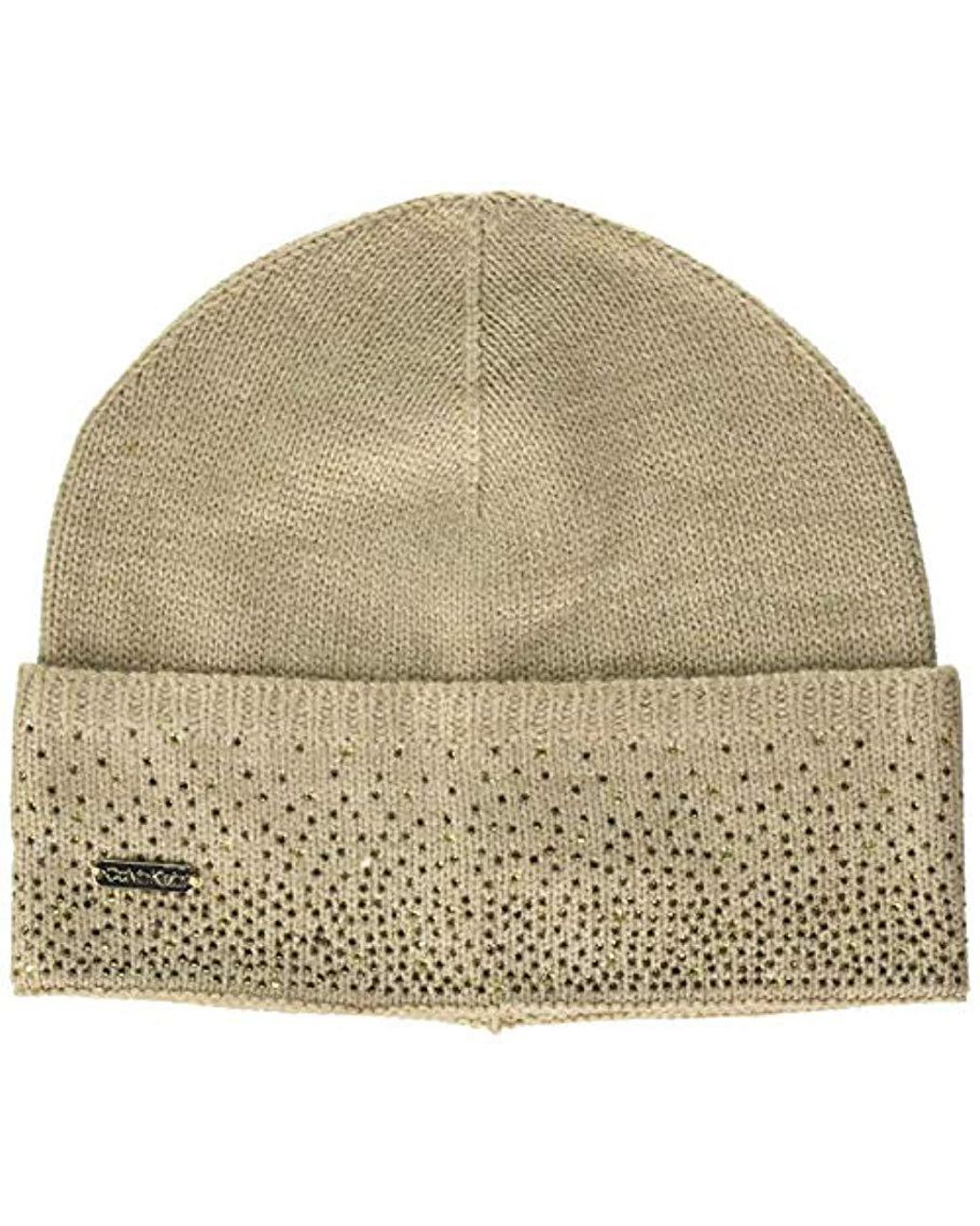 fd3a1823bd951 Women's Natural Ombre Crystal Cuffed Beanie