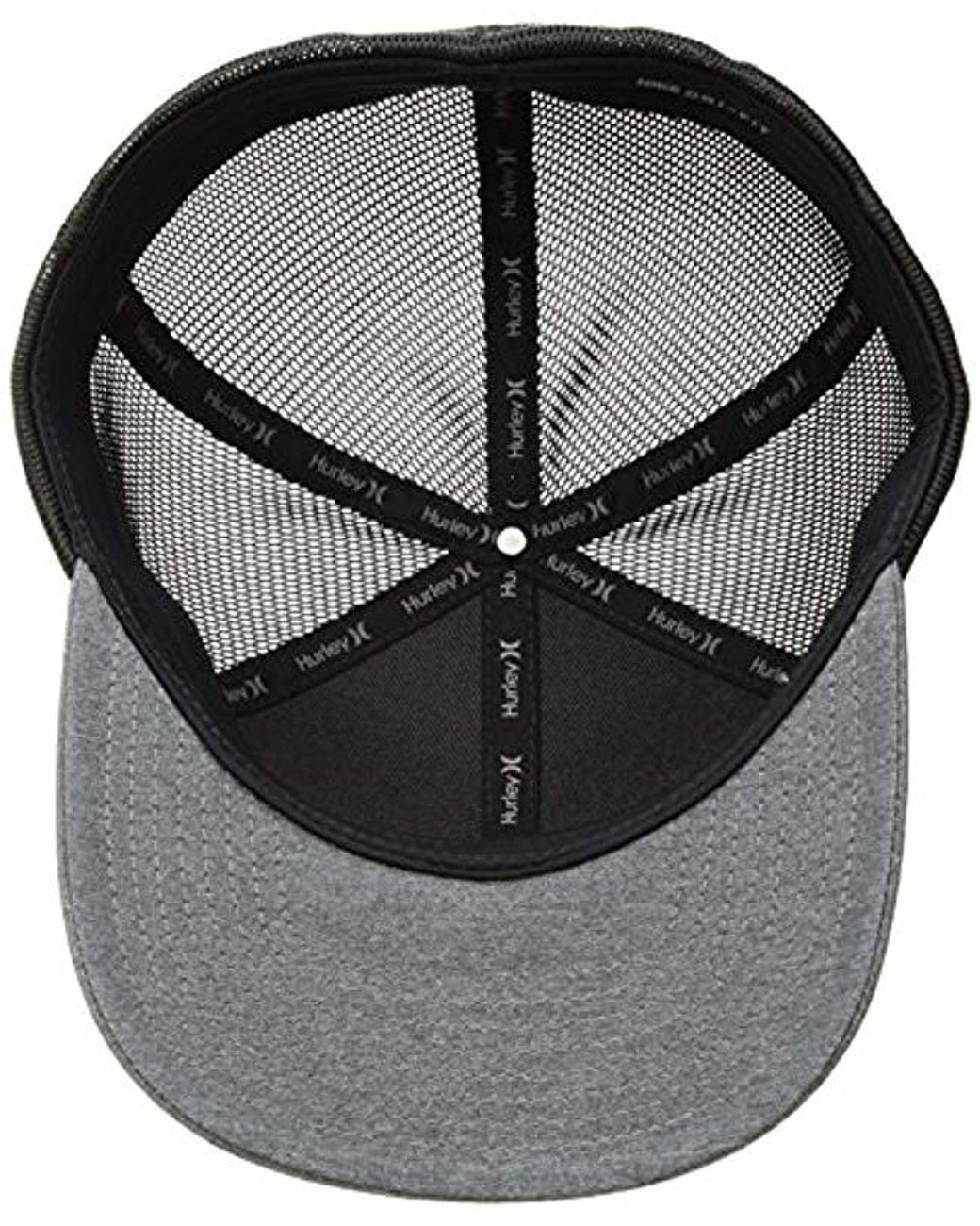 undefeated x new concept well known Hurley One And Textures Snapback Curved Bill Trucker Hat in Black ...