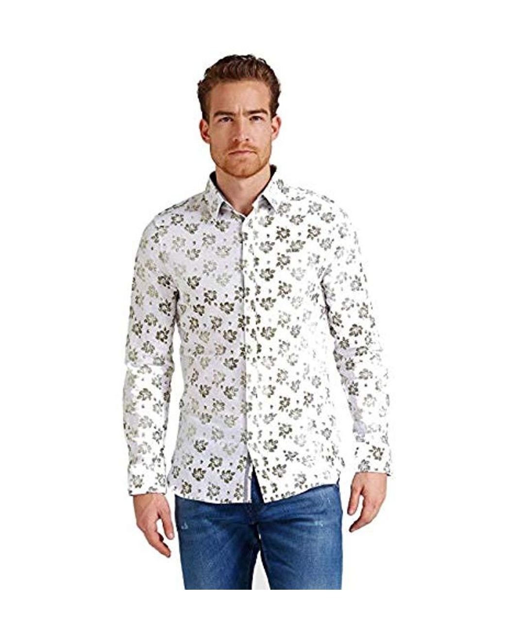 huge selection of 13857 f0bdb Men's White Camicia Uomo Floreale