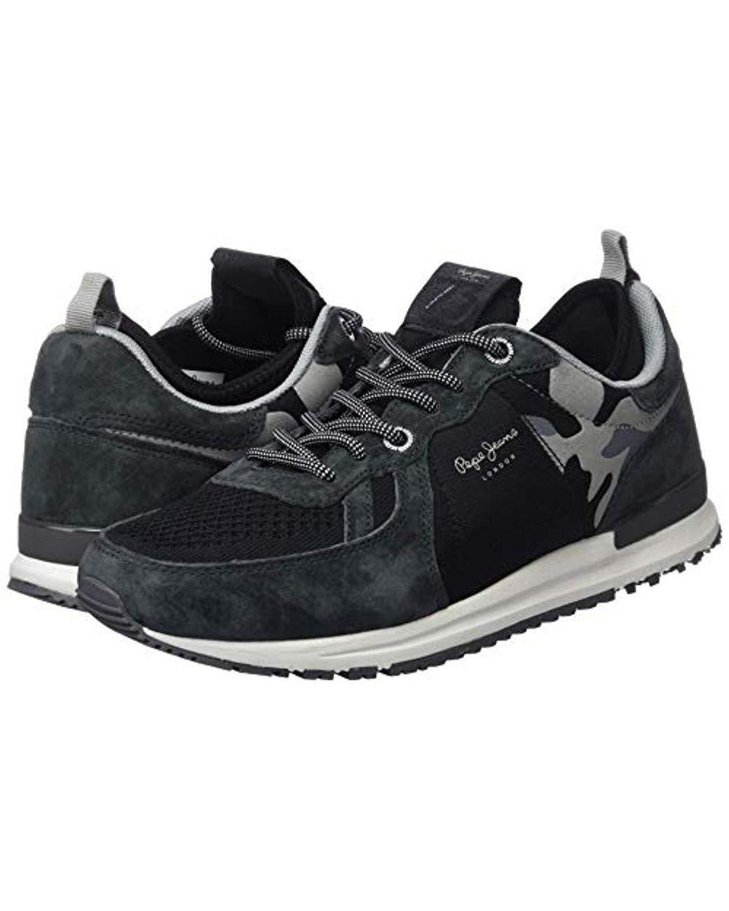 Pepe Jeans London Tinker Pro 73, Low top Sneakers in Black