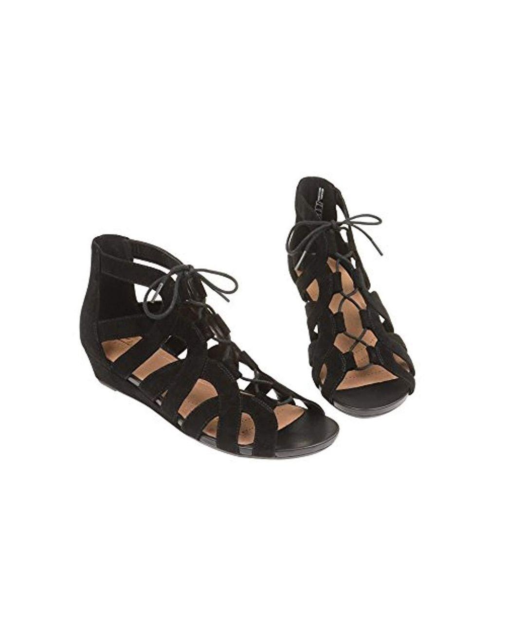 1918ba8d528 Clarks Sandals Smart Parram Lux Suede In Standard in Black - Lyst