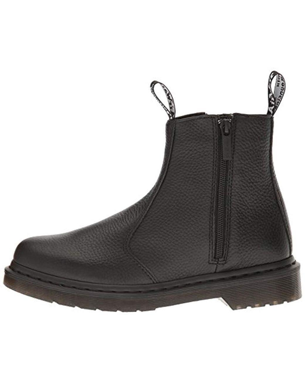 276ca2b59 Dr. Martens 2976 W/zips Chelsea Boots in Black - Lyst