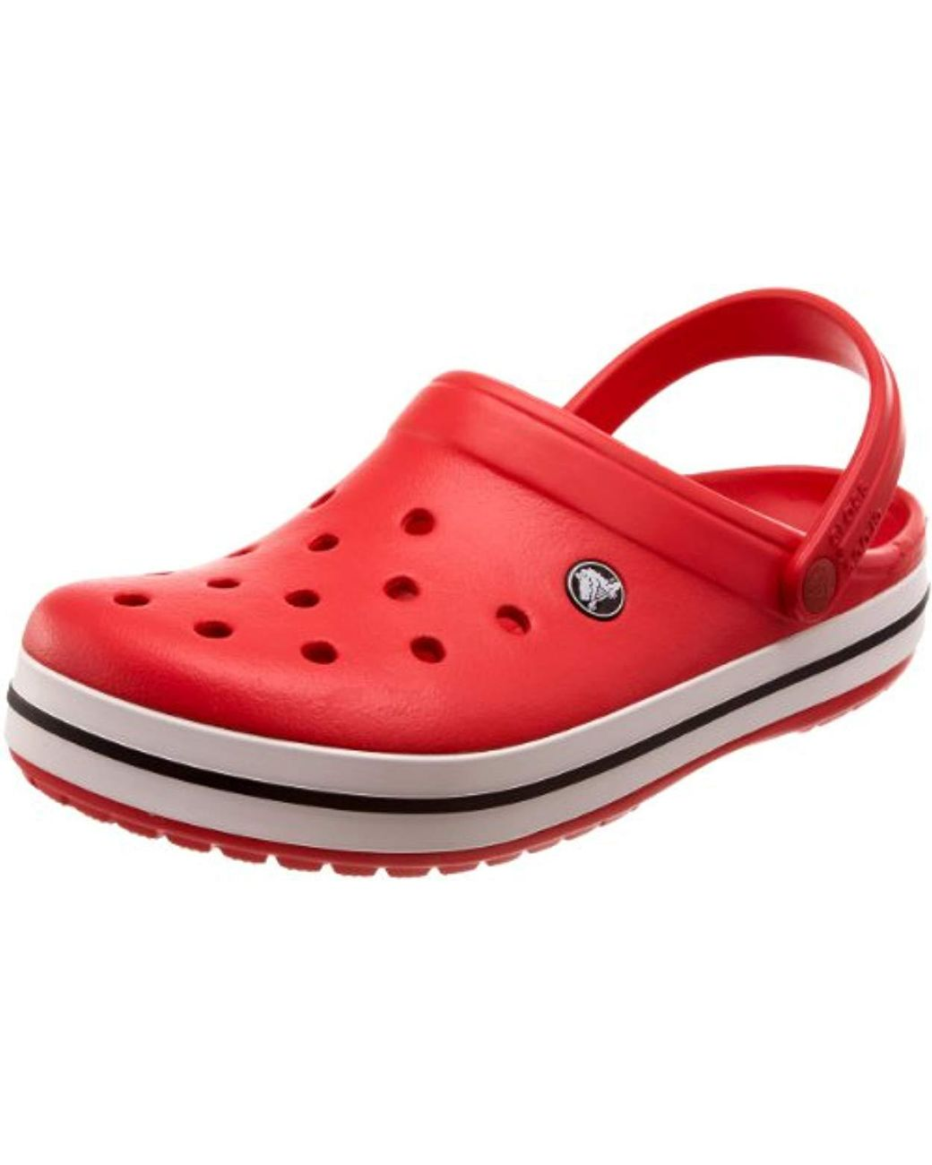 3e1ce1e98 Crocs™ Unisex Adult Crocband Clogs in Red - Save 17% - Lyst