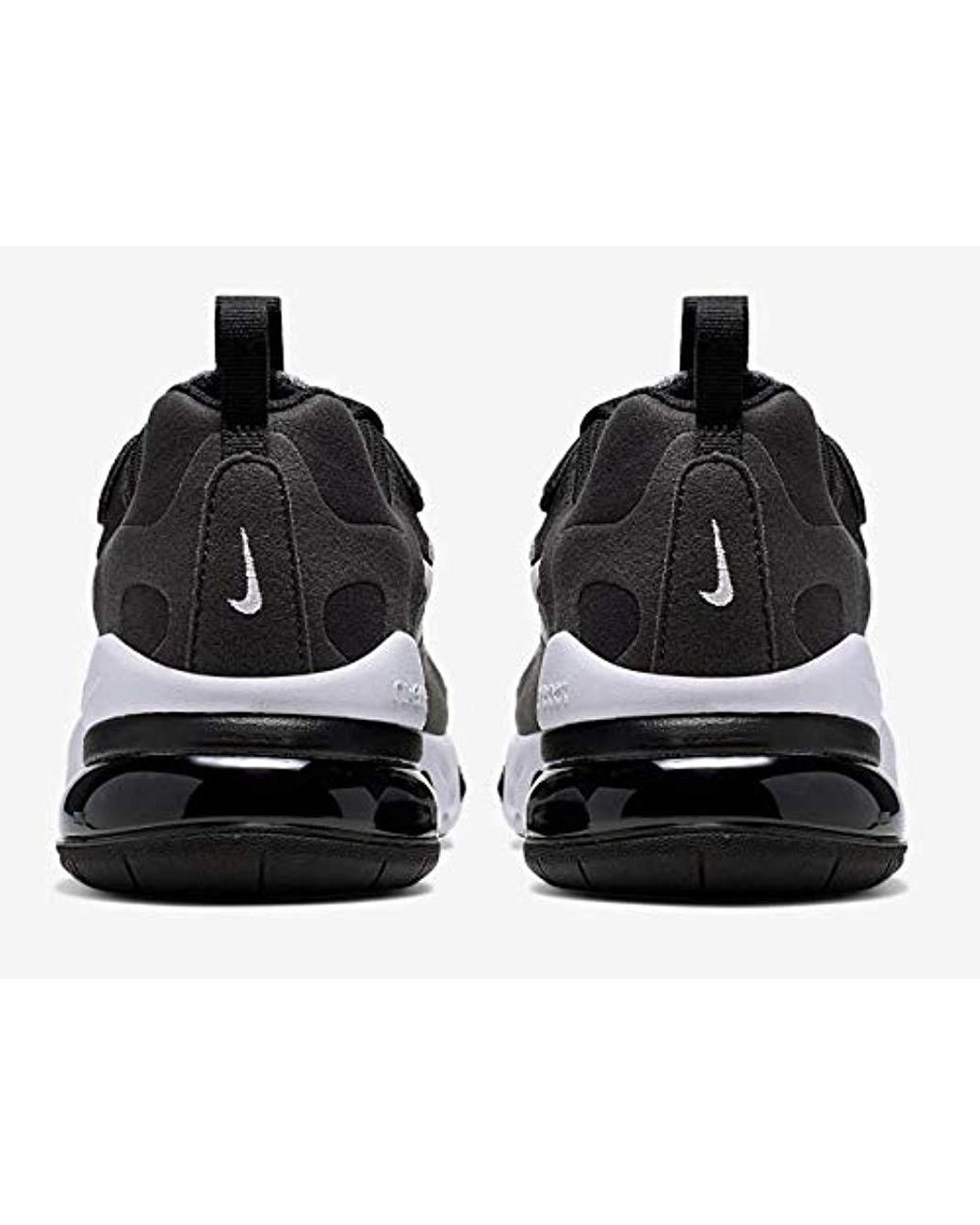 Nike Rubber Unisex Sneaker Shoes Air Max 270 React In Black