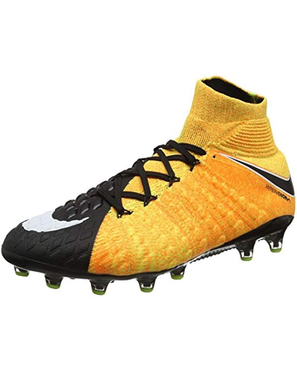 new product e5092 71fdc Men's Orange Hypervenom Phantom 3 Df Ag-pro Football Boots