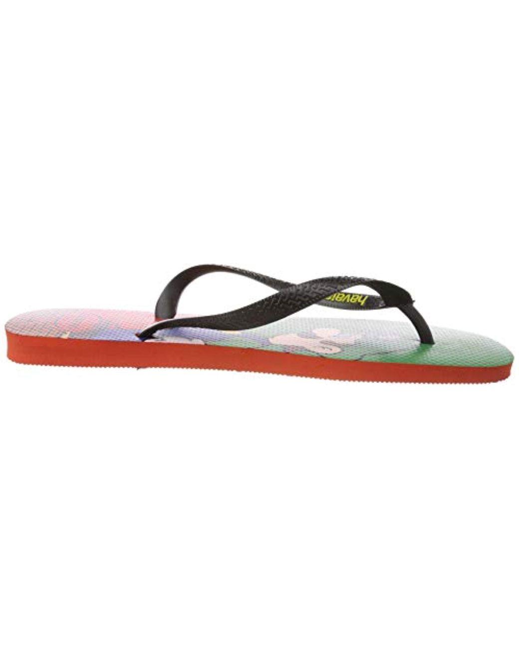 Havaianas Mario Bros Unisex Rubber Sandal In Multi Colo