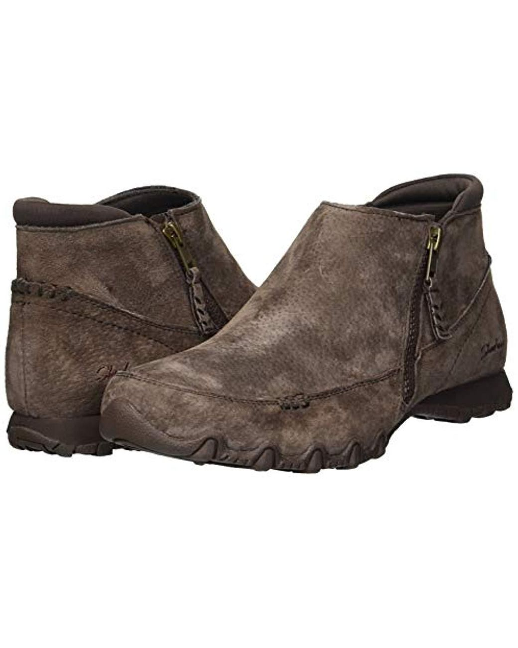 43c1f25391a52 Women's Brown Bikers-zippiest-moc-toe Outside Zip Bootie Ankle Boot,  Chocolate, 6 M Us