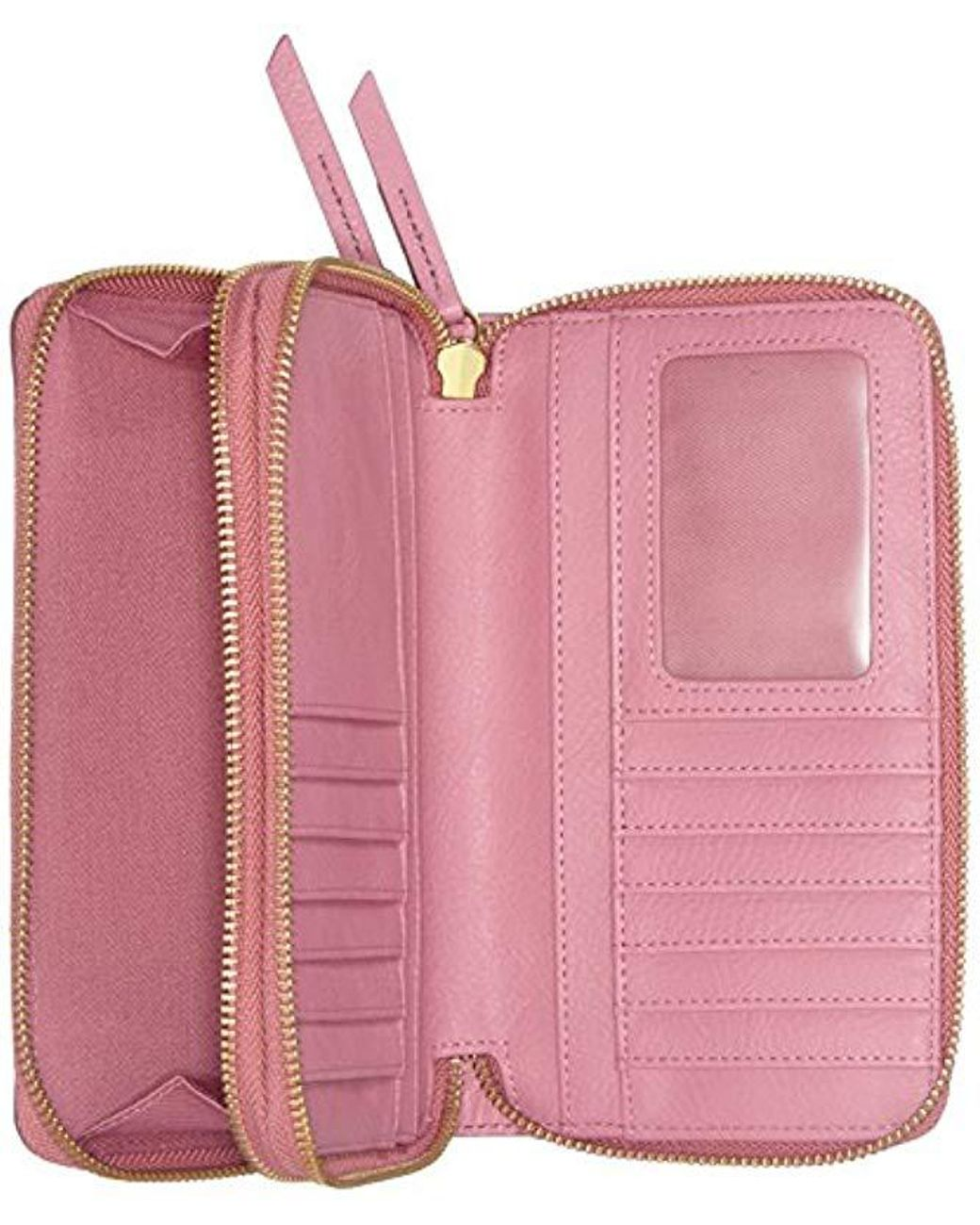 bfa0004c77d96 Fossil Damen Geldbörse   Raven Crossbody Geldbörse Wallet in Pink - Lyst