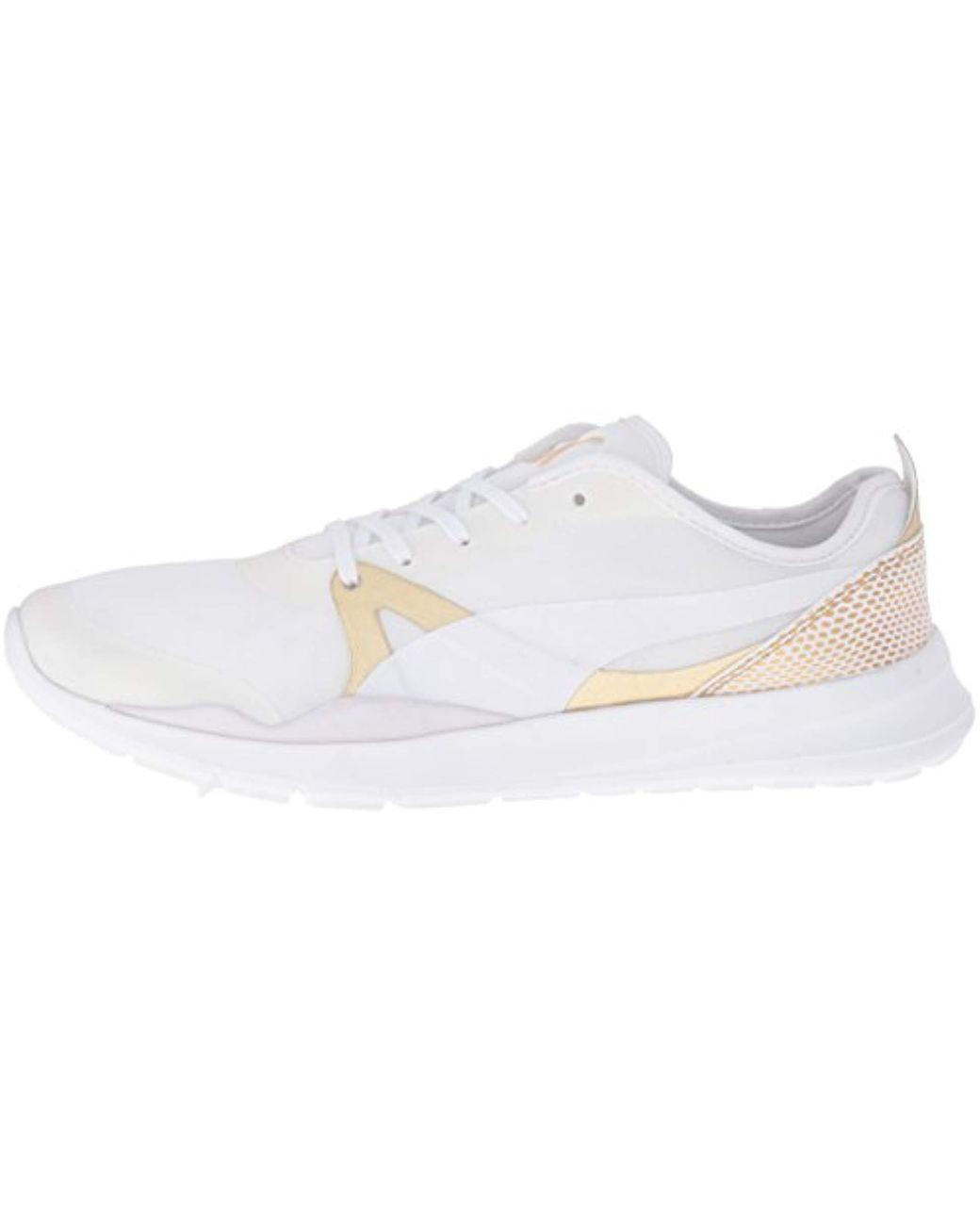 Puma Evo Gold Duplex Sneaker Women's, weiß gold, 5.0 UK