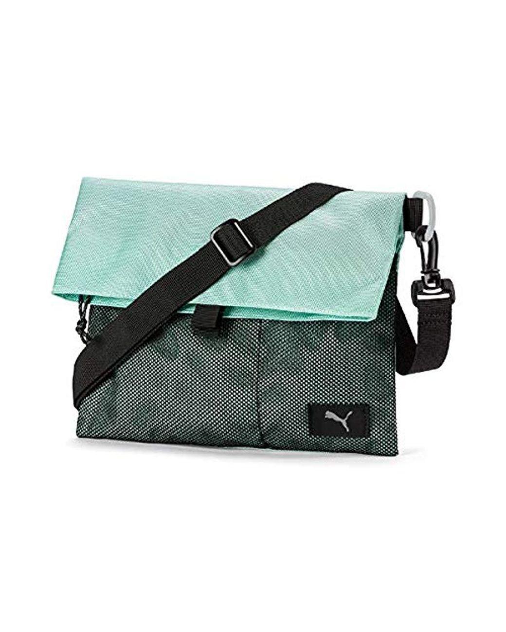 PUMA Forever Carry Sack Black Grey Back Pack Messenger Bag Bike Bicycle Shoulder