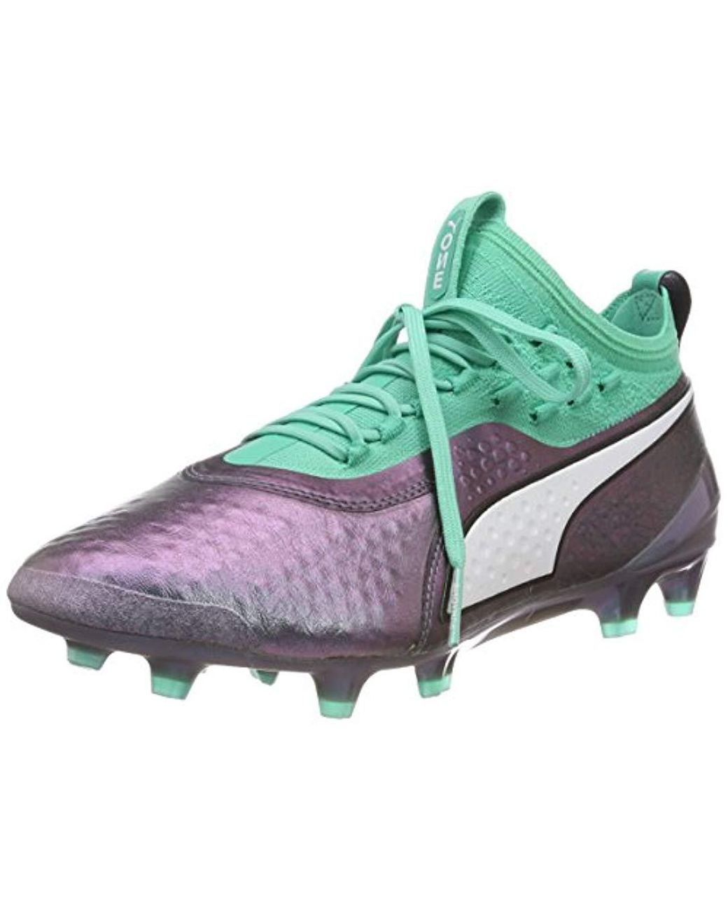 PUMA Leather One 1 Il Lth Fgag Footbal Shoes in Green for