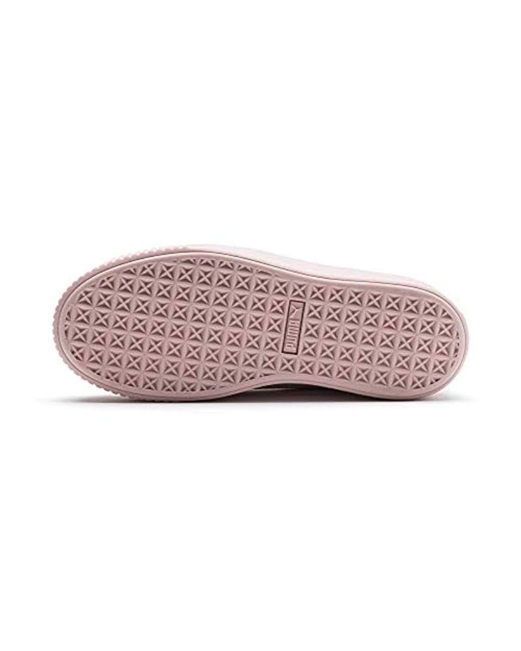 PUMA Platform Kiss Velvet Damen Sneaker in Silver Pink Gold