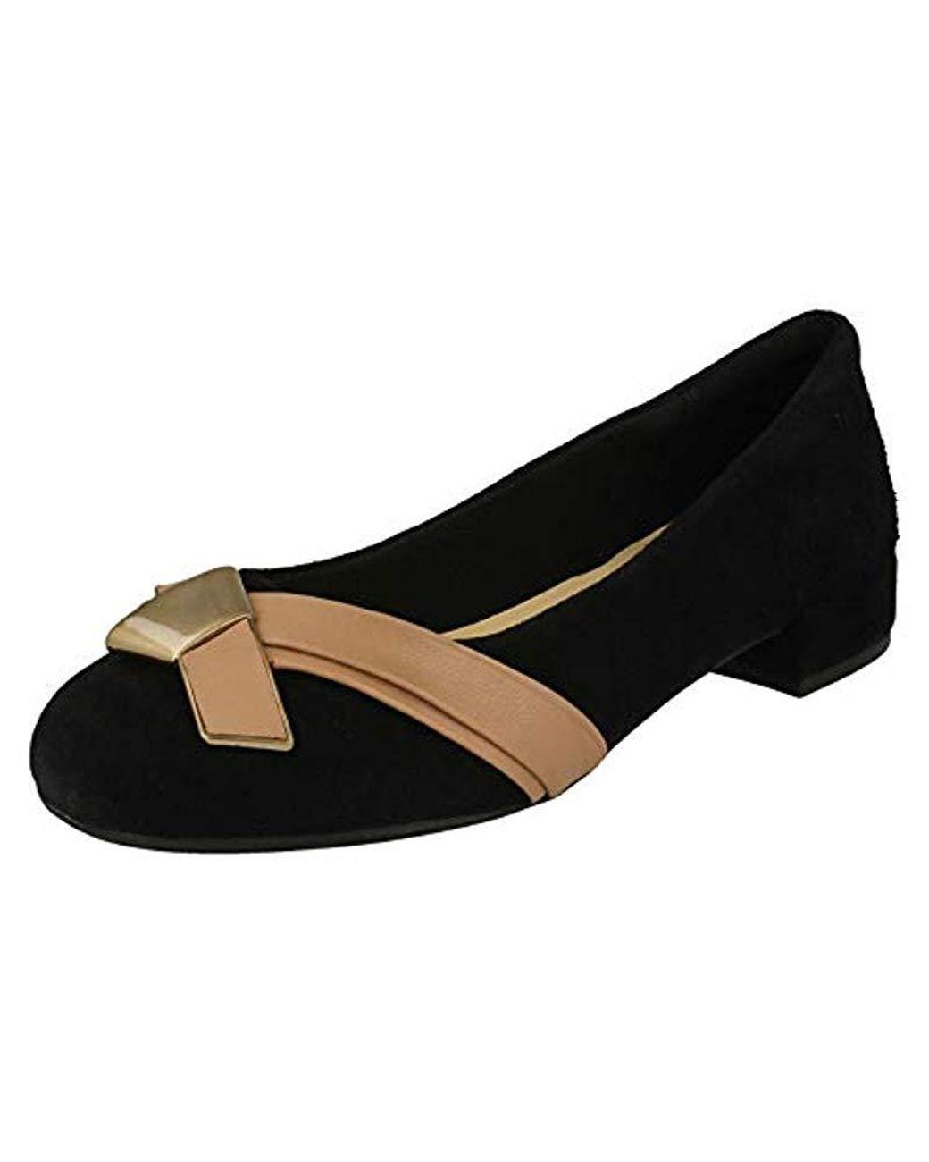 Ladies Clarks Smart Cross Detail Shoes /'Rosabella Moon/'