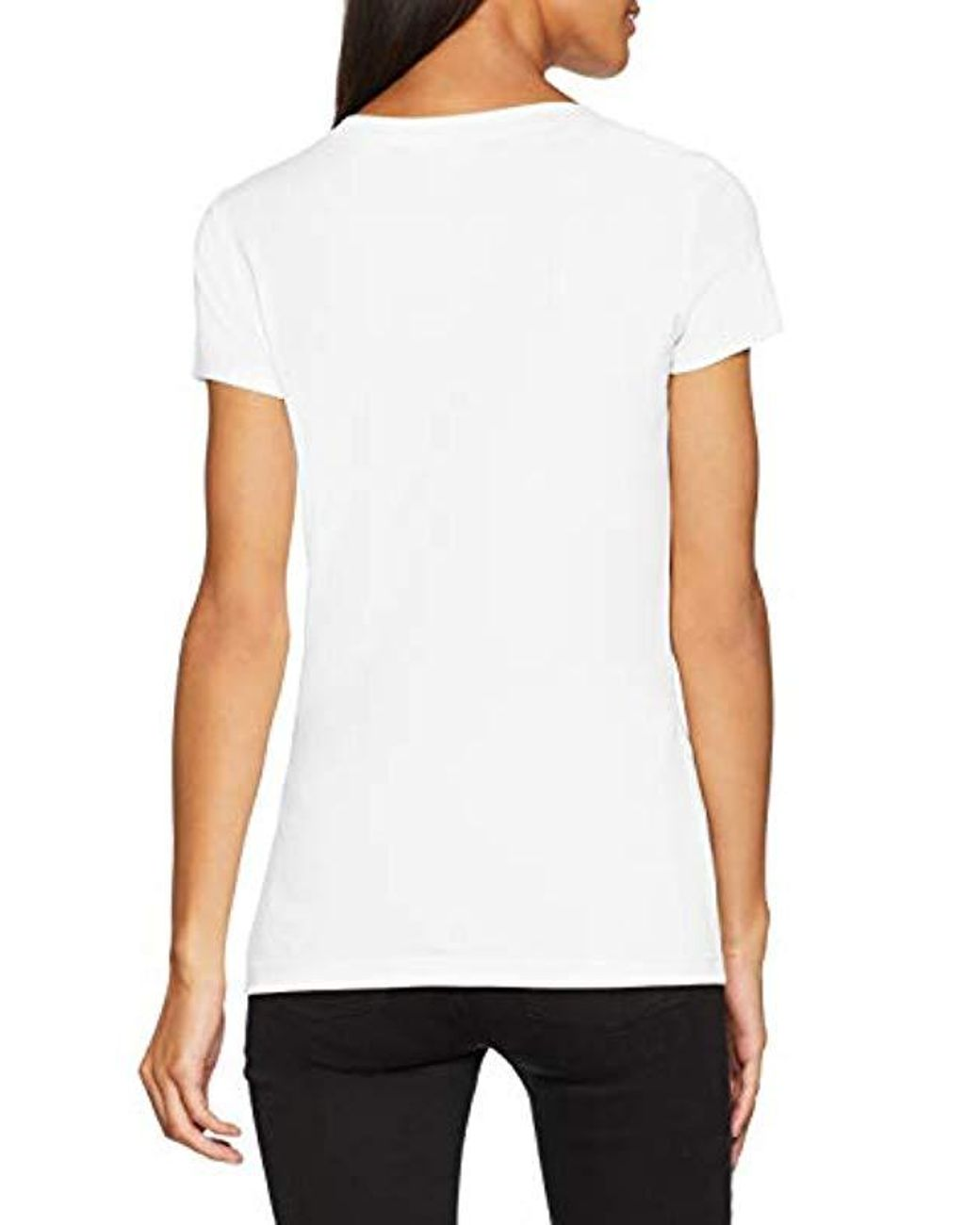 Shirt With Women's Short T Love Sleeve And EyeMouth White P80XkwOn