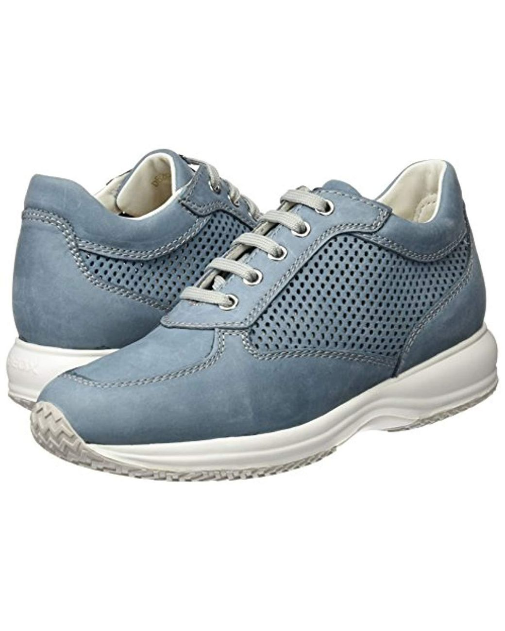 a3c58eb89b1984 Geox D Happy A Low-top Sneakers in Blue - Lyst