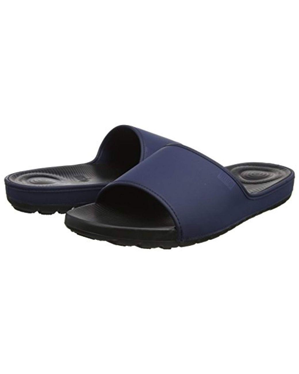 e2427bdb77f9e Fitflop Lido Slide Sandals In Neoprene in Blue for Men - Lyst