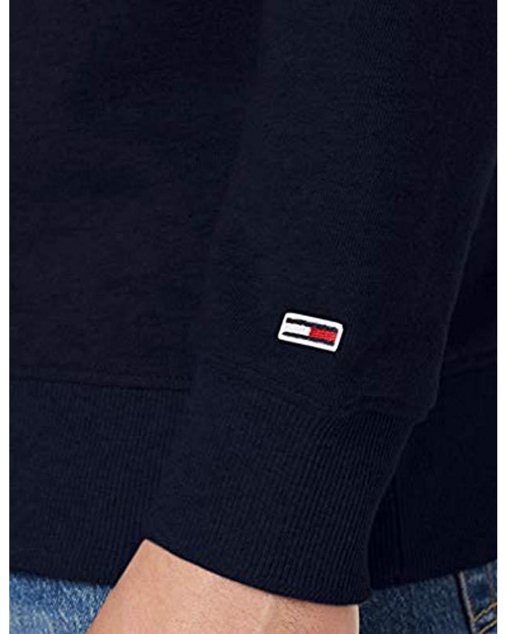 67874f1b Tommy Hilfiger Tjm Essential Logo Crew Long Sleeve Sweatshirt in Blue for  Men - Lyst