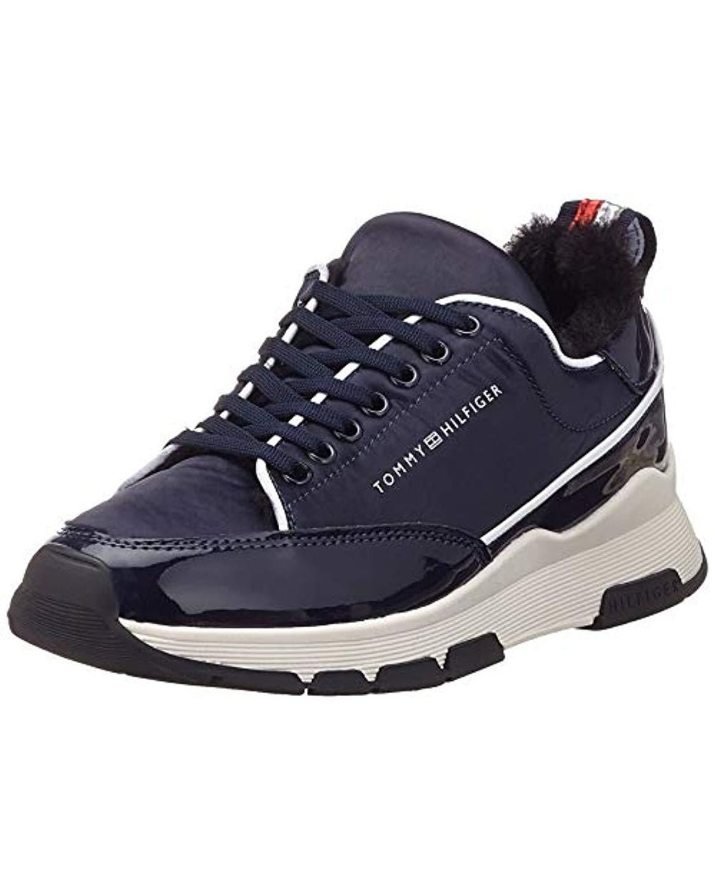 b57928db8 Tommy Hilfiger  s Cool Technical Satin Sneaker Low-top in Blue - Lyst