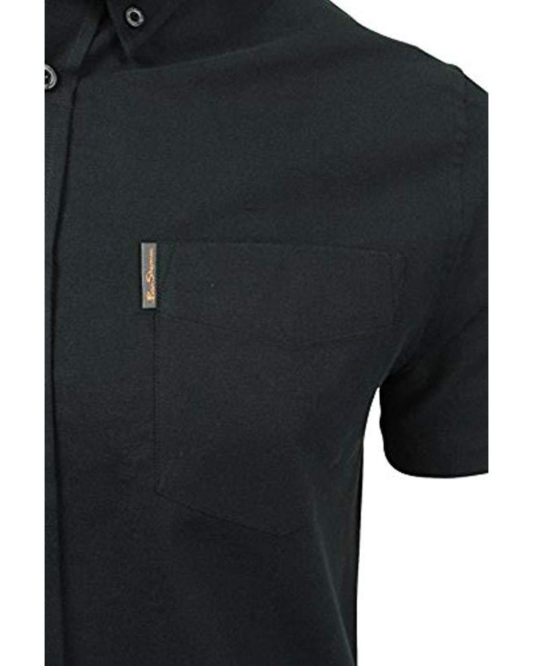 Mens Ben Sherman Oxford Short Sleeve Shirt 0048580