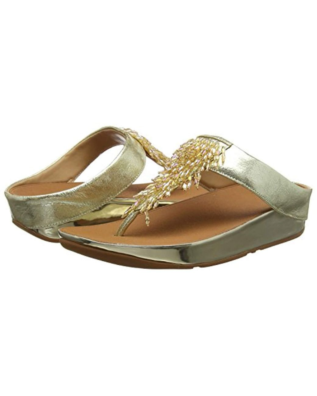 35686491a10b Fitflop Rumba Toe-thong Sandals Flip-flop in Metallic - Lyst