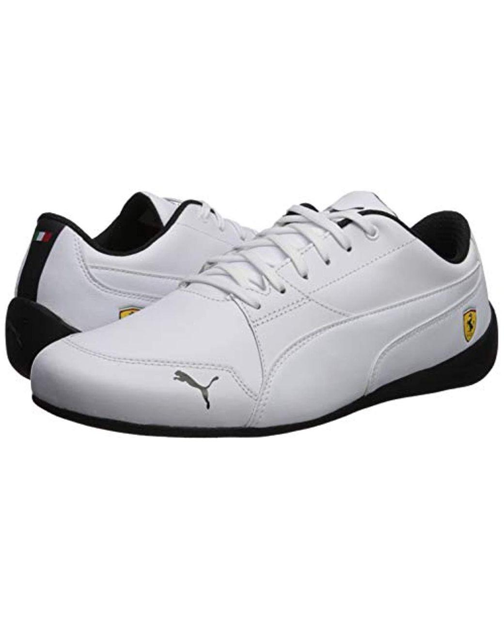 61e16d534cbcb Men's White Ferrari Drift Cat Sneaker