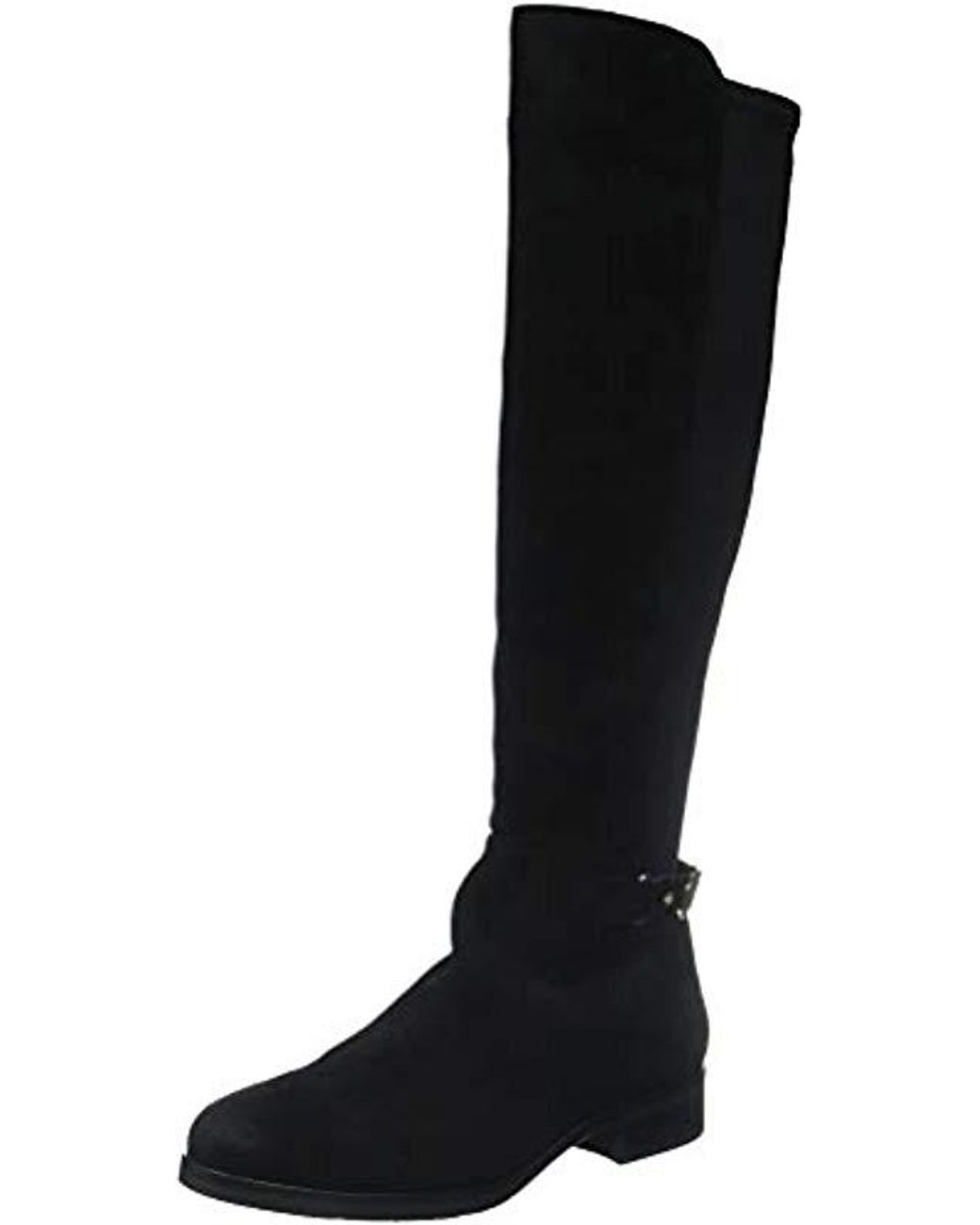 6d79339cf2c4d Tommy Hilfiger Th Buckle High Boot Stretch in Black - Lyst