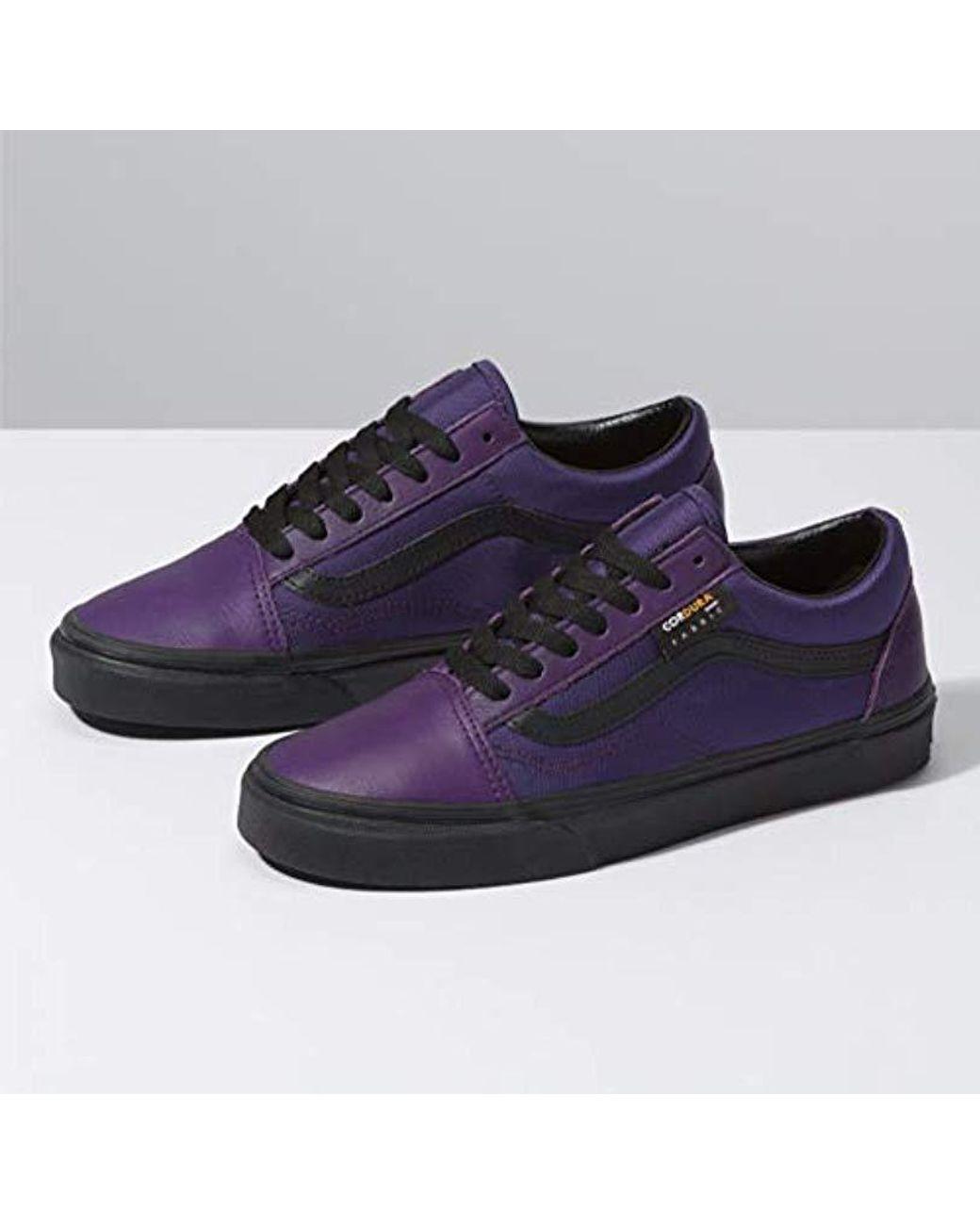 Vans Suede Old Skool Cordura Shoestrainers In Violetindigo