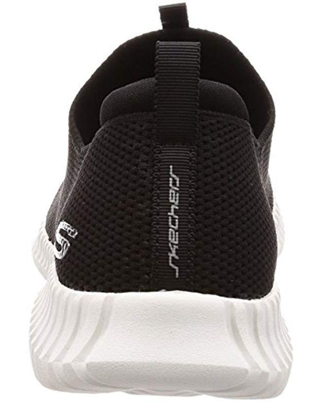 finest selection lovely luster how to buy Skechers Elite Flex Wasik Loafer in Black/White (Black) for ...