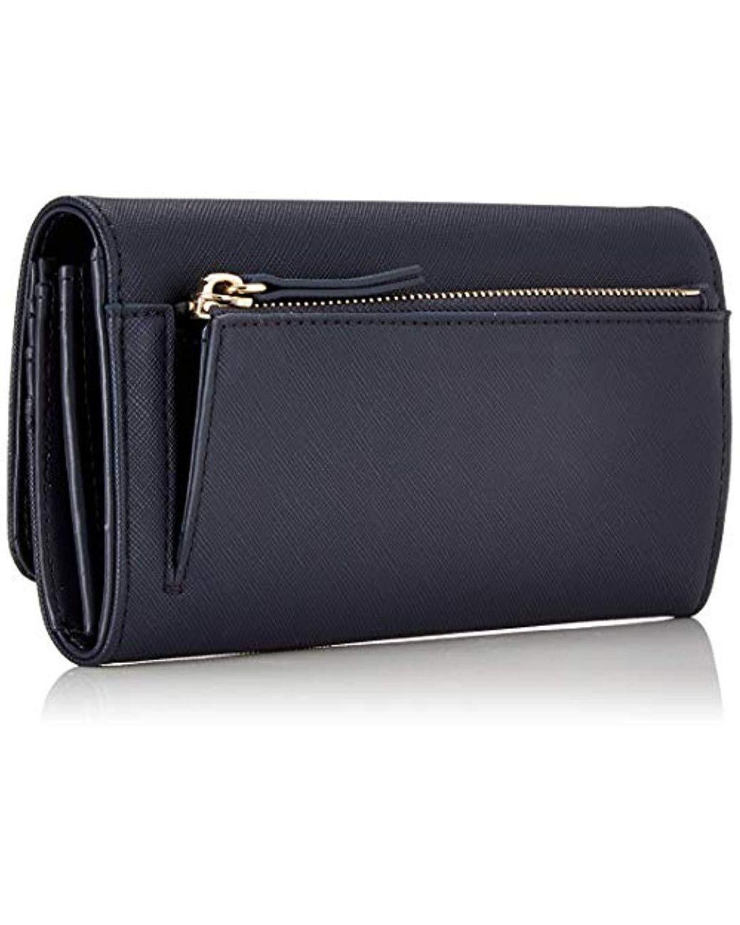 Tommy Hilfiger Varsity Nylon Large Zip Around Wallet portefeuille BLACK noir