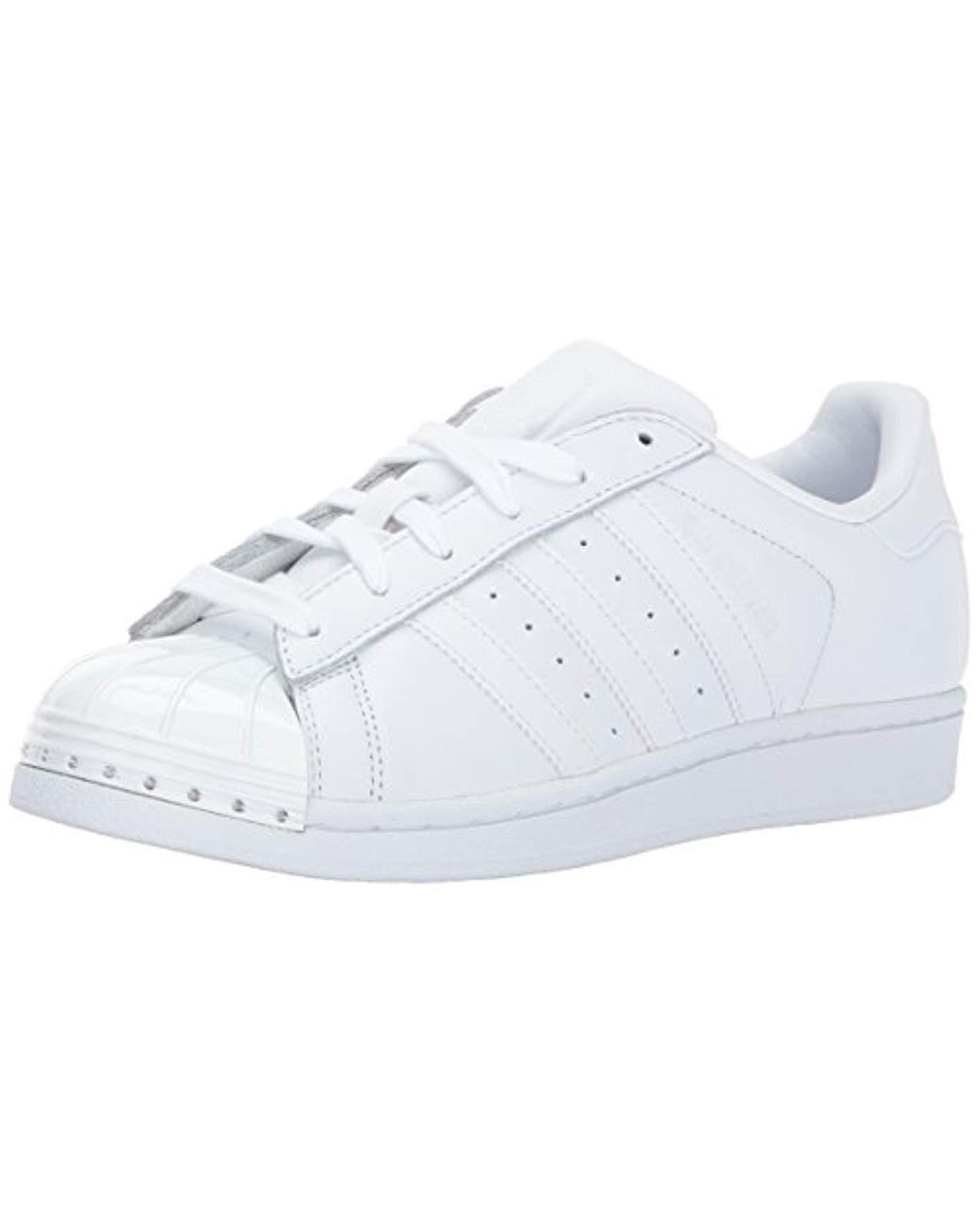 reputable site a45d5 20e83 Women's White Superstar Metal Toe W Skate Shoe Running