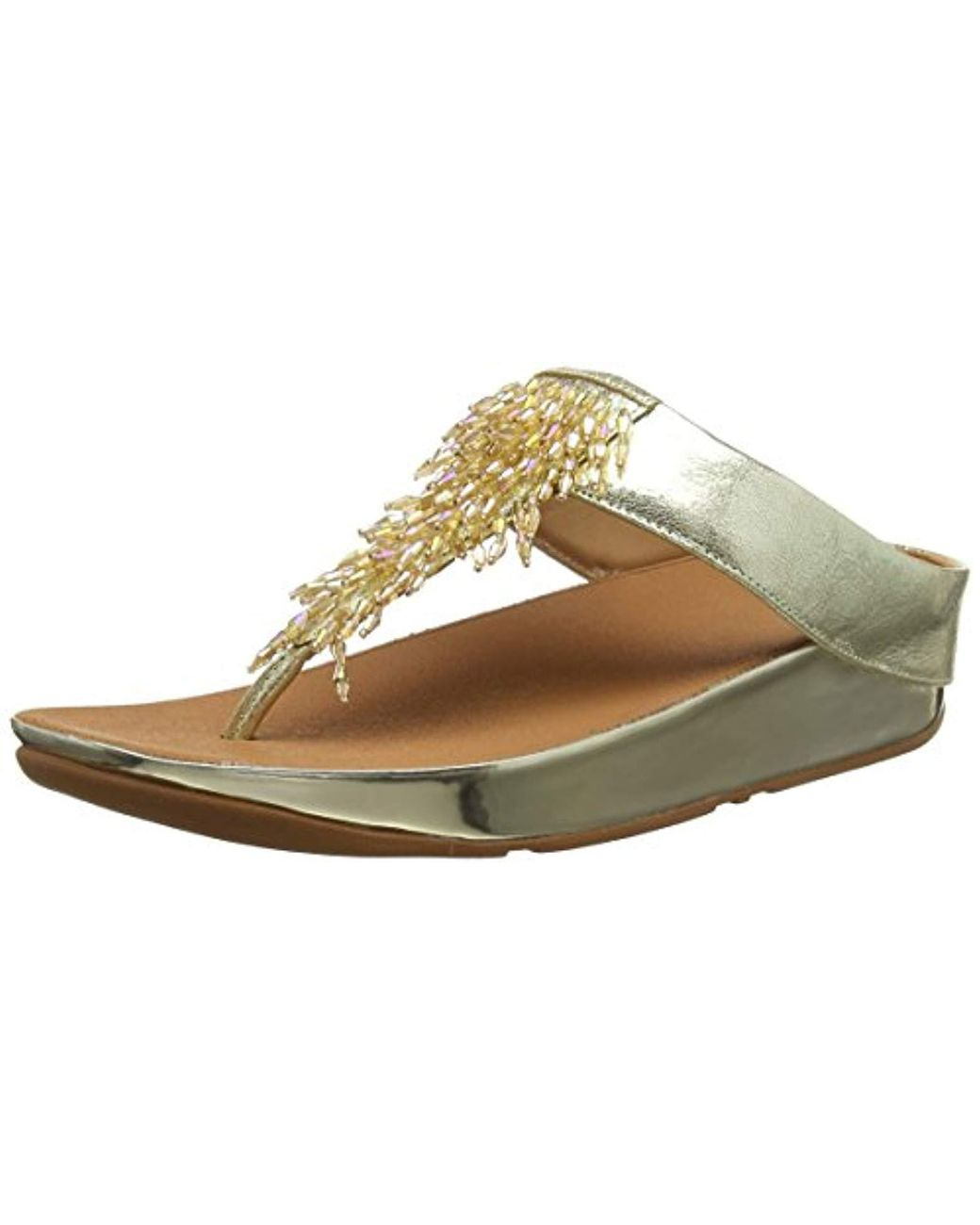 5fe0df22f Fitflop Rumba Toe-thong Sandals Flip-flop in Metallic - Lyst