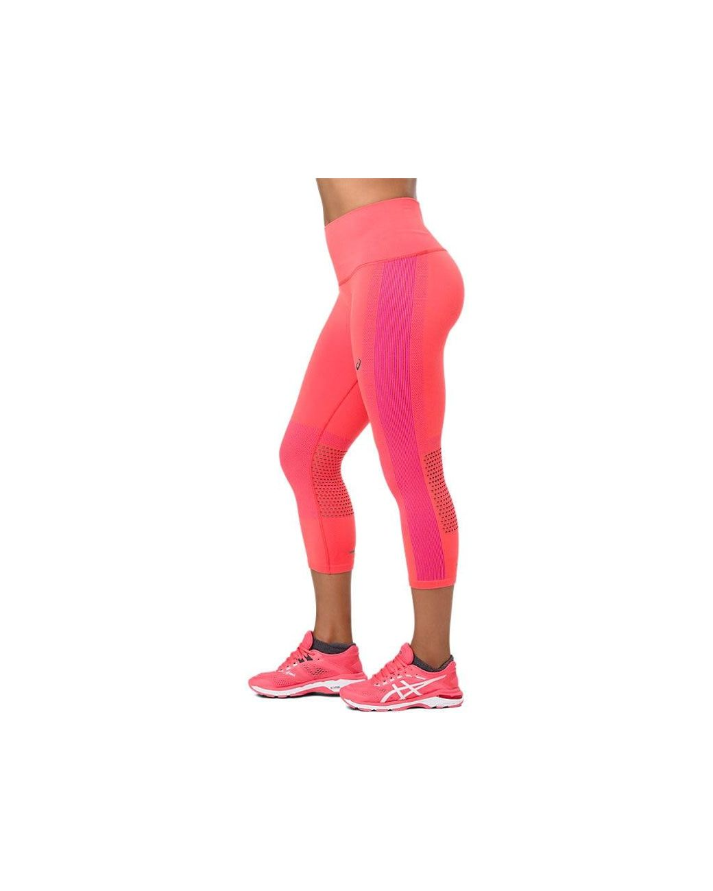 2a57c38317 Asics Cooling Seamless Capri in Pink - Save 31% - Lyst