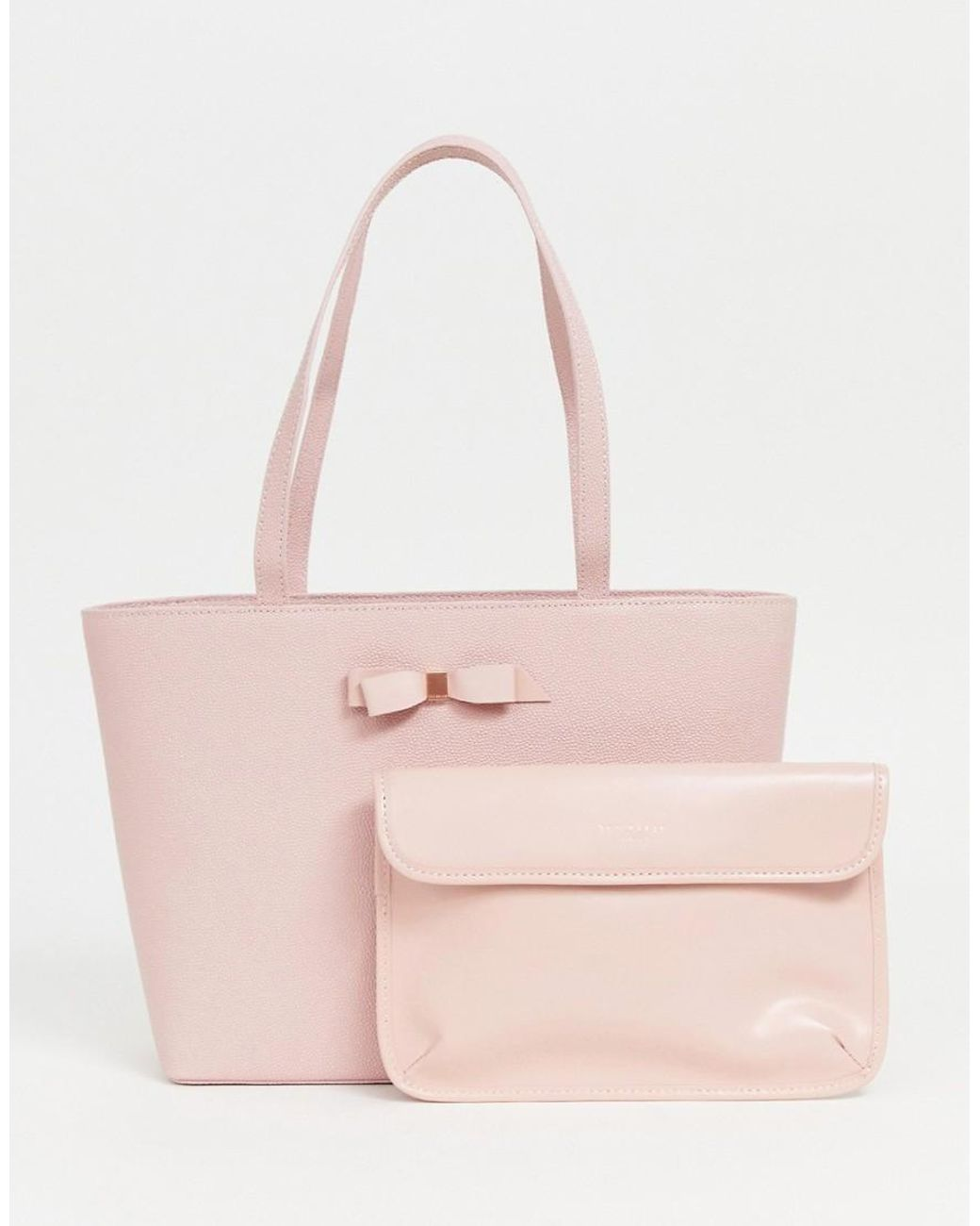 df1d6bbb8e15 Lyst - Ted Baker Jessica Bow Shopper Bag in Pink