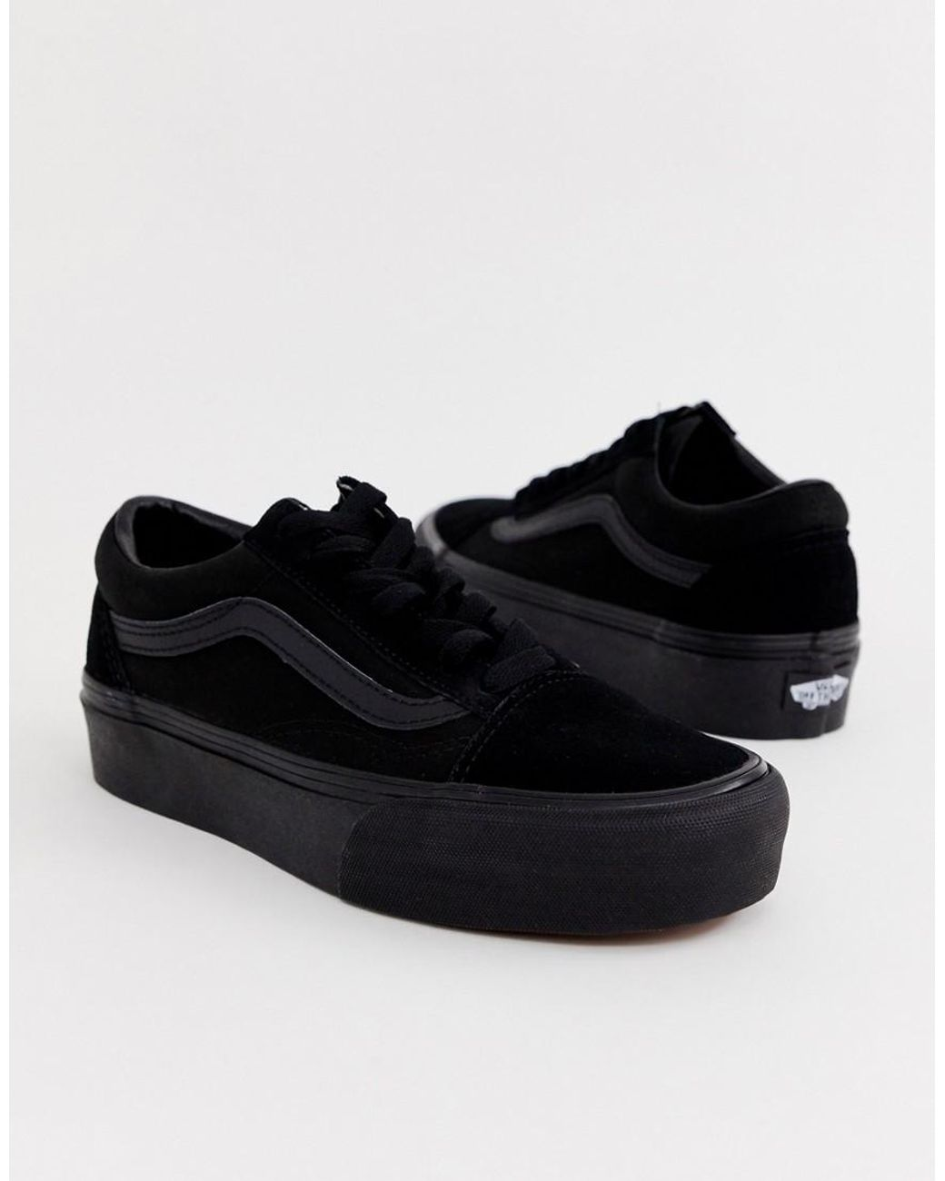 Platform Skool Black Sneakers Triple Old 9DI2EWH