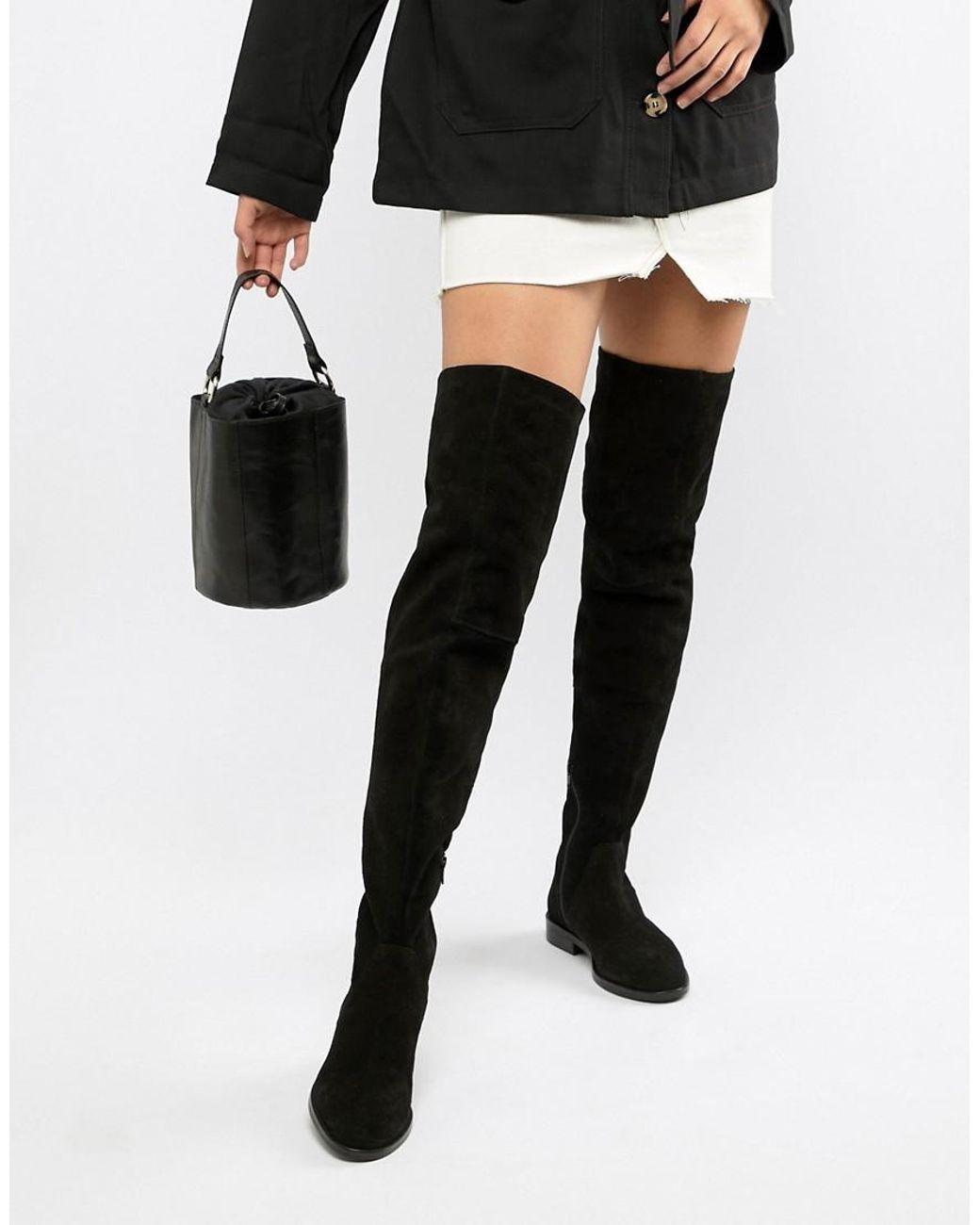 Kerria Overknee Stiefel aus Wildleder