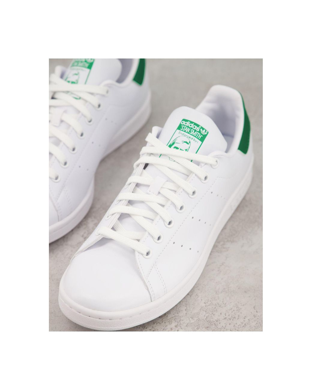 Stan Smith - Baskets durables à languette verte Caoutchouc adidas ...