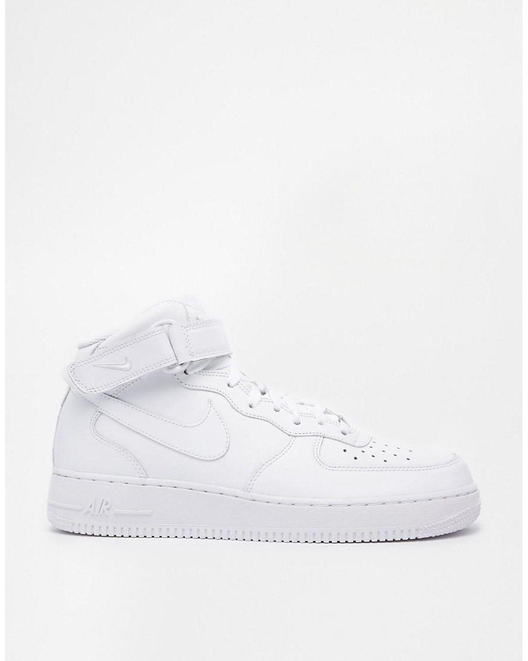 Air Force 1 Mid '07 Weiße Sneaker, 315123 111