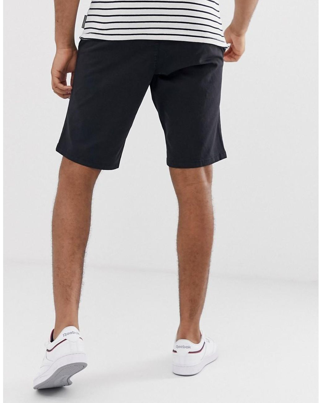 Cool Blue French Connection Men/'s Classic Chino Shorts