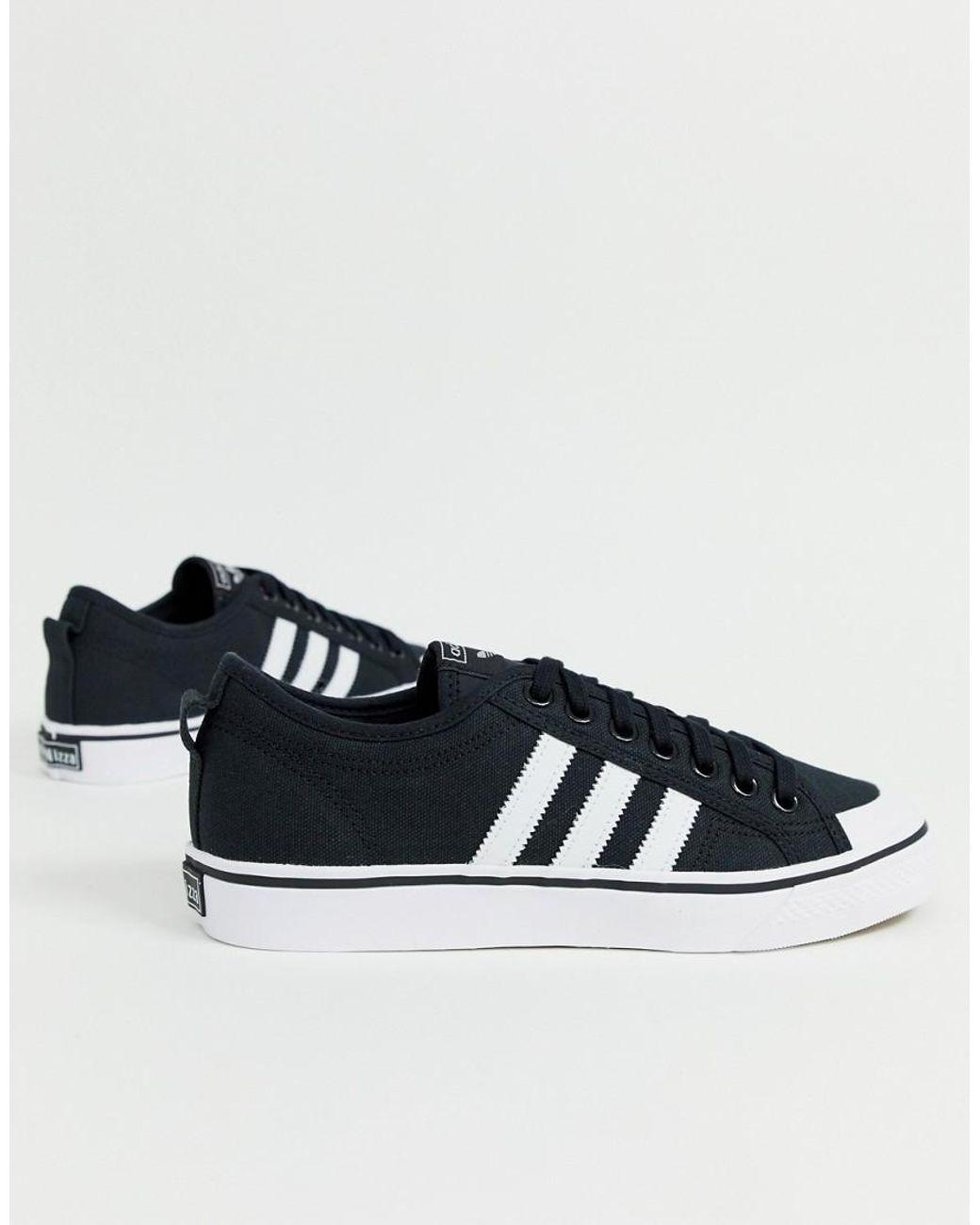 black nizza trainers