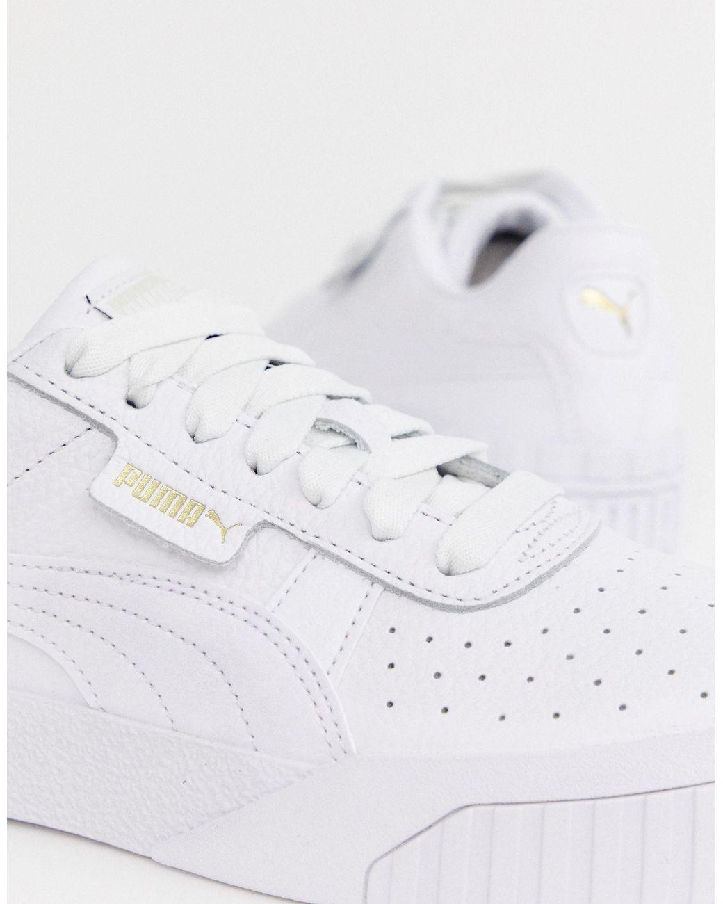 PUMA Leather Cali Sneakers in White