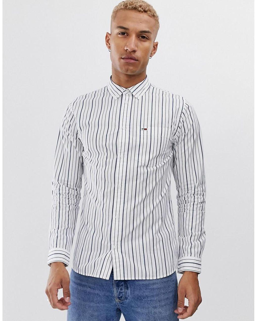 Tommy Hilfiger TJM Classics Poplin Stripe Shirt Camisa para Hombre