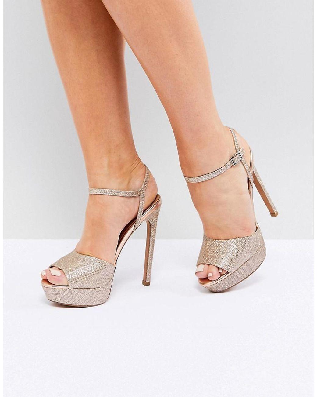 d7328277807 Women's Metallic Asos Hotel Platform Heeled Sandals