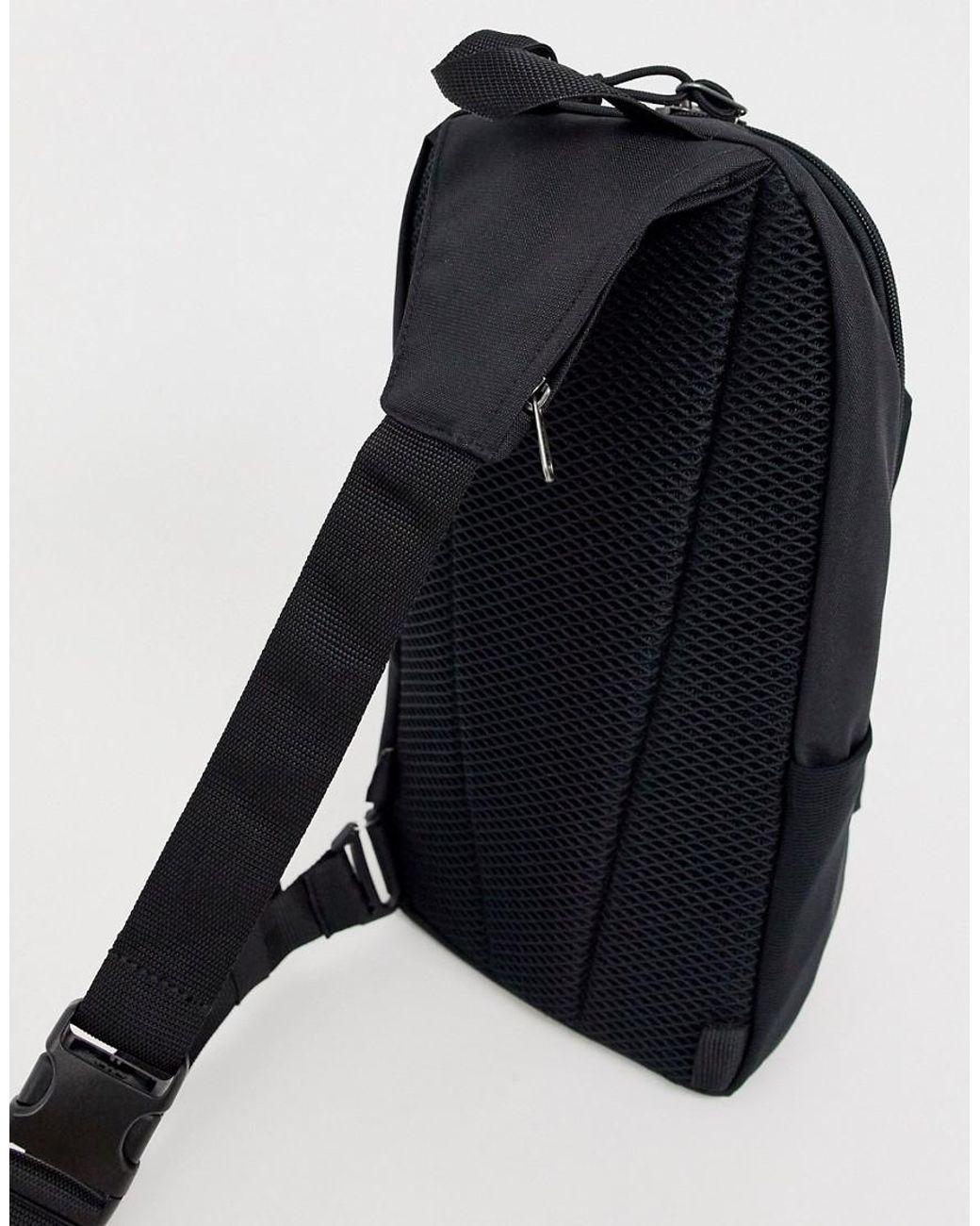 Wrap Large Crossbody Bag In Black